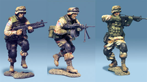 3rd ID Combat Attack Team, 3 figures 70MM