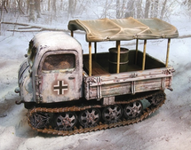 German Steyr RSO/01 Crawling Tractor Winter 1944