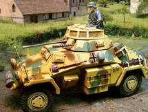 German Sd. Kfz. 222 Vehicle Normandy, 1944