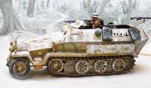 German Sd. Kfz. 251 Ausf. C Half-Track Winter 1944, WWII