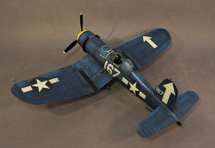 F4U-1D Corsair, VF-84, Whites 167, 57803, Lt. Commander Roger Hedrick, USS Bunker Hill, Feb. 1945, WWII, fourteen pieces (Includes F4U1DPROP)