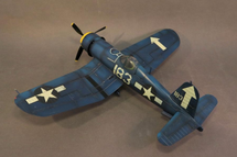 F4U-1D Corsair, VMF-221, White 183, 1st. Lt. Dean Caswell, USS Bunker Hill, Feb. 1945, WWII, fourteen pieces (Includes F4U1DPROP)