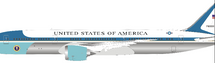 USAF Boeing 787-9 Air Force One 78000 polished with stand