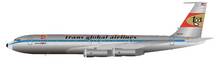 TGA Boeing 707-300 N324F Polished With Stand