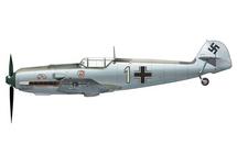 Bf 109E Luftwaffe 1./JG 2 Richthofen, White 1, Otto Bertram