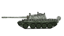T-55 Soviet Army, #125, USSR, 1970s