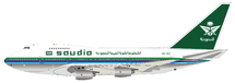 Saudi Arabian Airlines B747SP-68 HZ-AIJ Polished With Stand