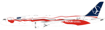 LOT Boeing 787-9 Proud of Polands Independence SP-LSC with stand
