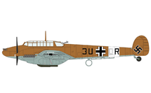 Bf 110E Luftwaffe 7./ZG 26, 3U+OR, Libya, 1942