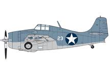 F4F-4 Wildcat USN VF-3 , White 23, John Thach, USS Yorktown