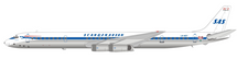 Scandinavian Airlines (SAS) DC-8-63 LN-MOY Polished With Stand