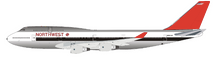Northwest Airlines Boeing 747-400 N662US Polished With Stand