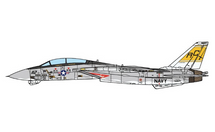 F-14B Tomcat USN VF-32 Swordsmen, AC112, USS Harry S. Truman