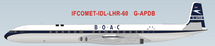 BOAC De Havilland DH-106 Comet 4 G-APDB with Stand