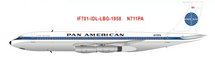 PAN AM Boeing 707-121 Clipper America N711PA with stand