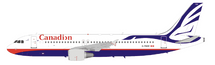 Canadian Airlines Airbus A320-200 C-FNVV 'Proud Wings' livery With Stand
