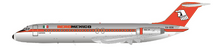 AeroMexico McDonnell Douglas DC-9-32 XA-DEK Polished With Stand