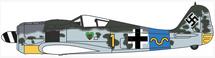 Fw 190A 42-Victory Ace Rudolf Klemm, 15./JG 54, Luftwaffe, 1944