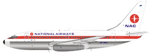 NAC New Zealand National Airways Corporation ZK-NAC Boeing 737-219 with stand
