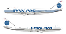 Pan American World Airways Pan Am N735PA Boeing 747-121 with stand