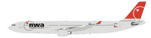 NWA Northwest Airlines N808NW Airbus A330-323 with stand