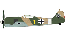 Fw 190A Luftwaffe 6./JG 2 Richthofen, Yellow 1, Erich Rudorffer, North Africa, Spring 1943