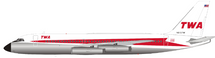 TWA Convair CV-880 N815TW Polished With Stand