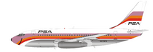 PSA Pacific Southwest Airlines Boeing 737-214 N379PS with stand