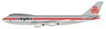Cargolux Boeing 747-2R7F/SCD LX-DCV with stand LTD 100 Models