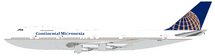 Continental Micronesia Boeing 747-238B N14024 with stand, Limited 72 Models