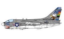 A-7E Corsair II USN VA-113 Stingers, NF300, USS Ranger, 1975