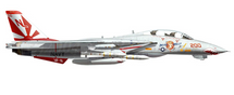 F-14A Tomcat USN VF-111 Sundowners, NL200 Miss Molly, USS Carl Vinson, 1989