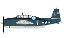 TBF Avenger USN VT-51, Barbara III, George Bush, USS San Jacinto, 1944