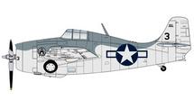 F4F-4 Wildcat USN VC-12, Black 3, USS Core, 1944