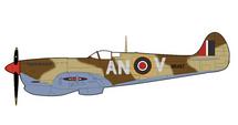 Supermarine Spitfire Mk V RAF No.417 Sqn, BR487, Tunisia, 1943