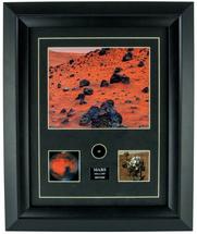 Framed Photograph of Mars Meteorite Print with Specimen