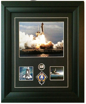 Framed Photograph of Atlantis Signed by Commander Christopher J. Ferguson Print with Liner Relic