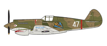 P-40B Warhawk AVG Flying Tigers 3rd PS, White 47, Robert Smith
