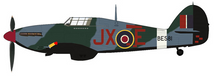 Hurricane Mk II RAF No.1 Sqn, BE581 Night Reaper, Karel Kuttelwascher