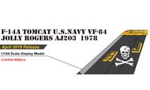 F-14A Tomcat, USN VF-84 Jolly Rogers, AJ203, USS Nimitz, 1978 1:144 Scale