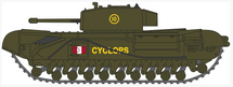 Churchill Mk.III Tank 51st (Leeds Rifles) Royal Tank Regment, British Army, 1942