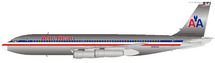 American Airlines Boeing 707-100 N7573A With Stand