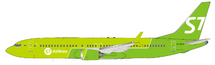 S7 Siberia Airlines Boeing 737-8 MAX VQ-BGW With Stand