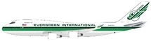 Evergreen International Airlines Boeing 747-400 N493EV With Stand