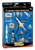 Lunar Explorer 15 Piece Playset w/ Kennedy Space Center Sign