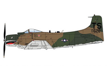 A-1H Skyraider USAF 56th SOW, 22nd SOS, South Vietnam