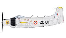 AD-4 Skyraider Armee de l'Air EC 2/20 Quarsenis, Algeria, 1960s