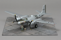 A-26B-15-DT, For Pete`s Sake 416th BG, 670th BS, F6-P Spring 1945 WWII Mahogany Display Model