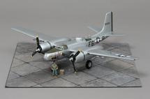 A-26B-15-DT, For Pete`s Sake 416th BG, 670th BS, F6-P Spring 1945 WWII Mahogany Display Model