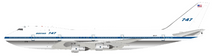 Boeing 747-121 N731PA Polished With Stand